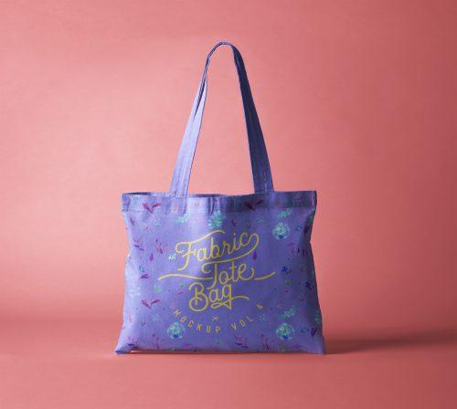 Psd Tote Bag Fabric Mockup