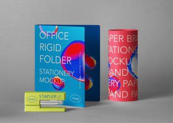 Stationery Psd Folder Mockup