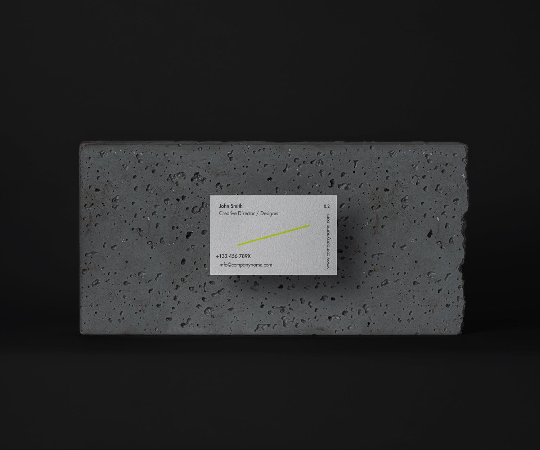Stone Business Card Mockup