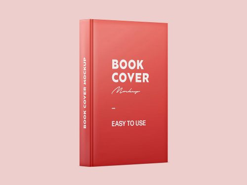 Book Spine and Cover Free Mockup