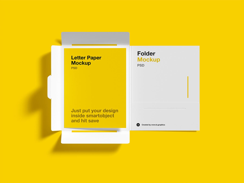 Brochure Folder Letter Free Mockups