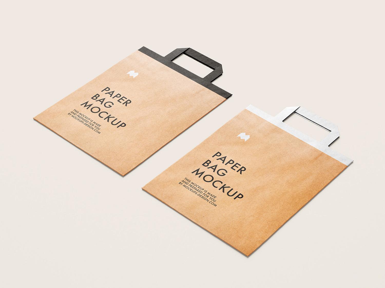 Flattened Paper Bag Free Mockup