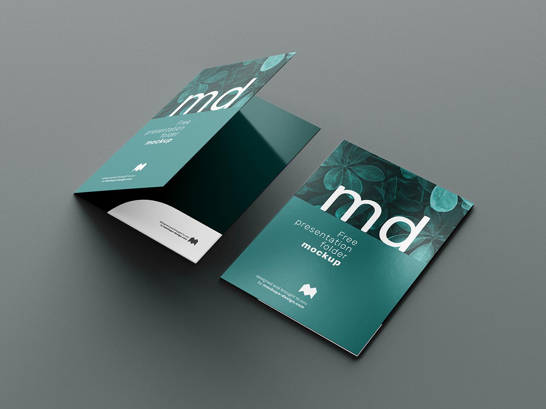 Free Branding Presentation Folder Mockup