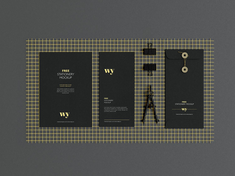 Free Branding Stationery Mockup
