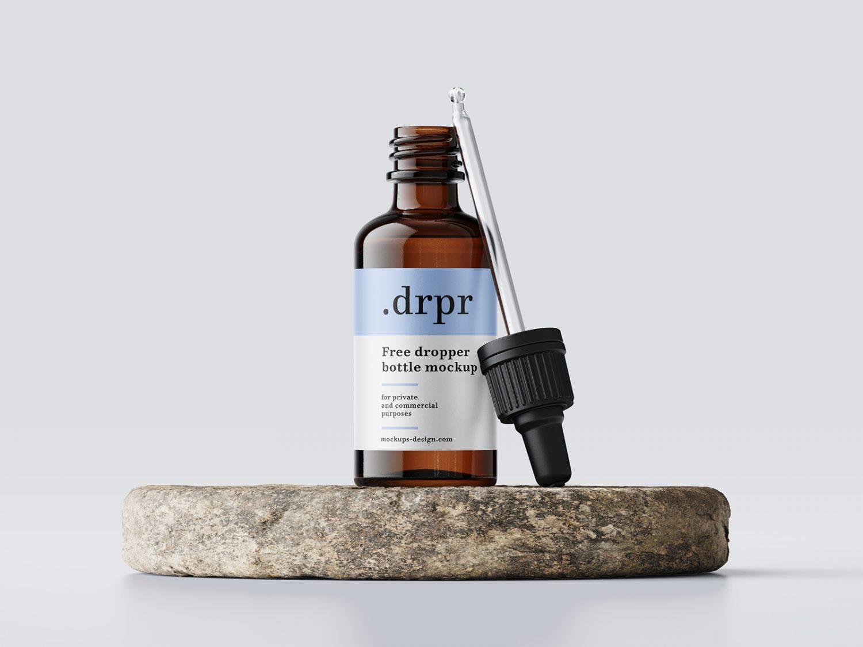 Free Dropper Bottle Mockup