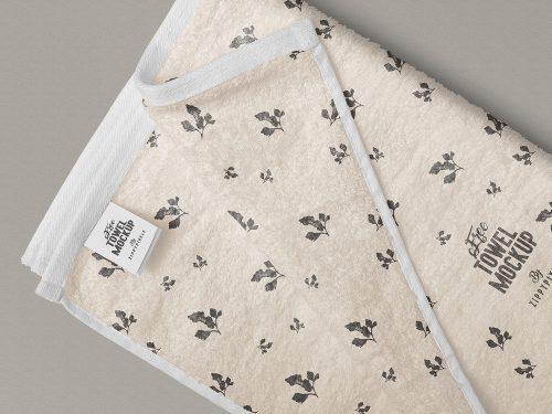 Free Full Towel Mockup PSD