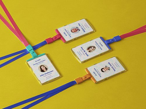 ID Card Holder PSD Mockups