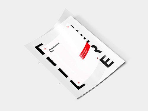 Letter Transparent Cover Brochure Free Mockup