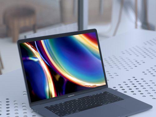 MacBook Pro UI/UX Presentation Mockup