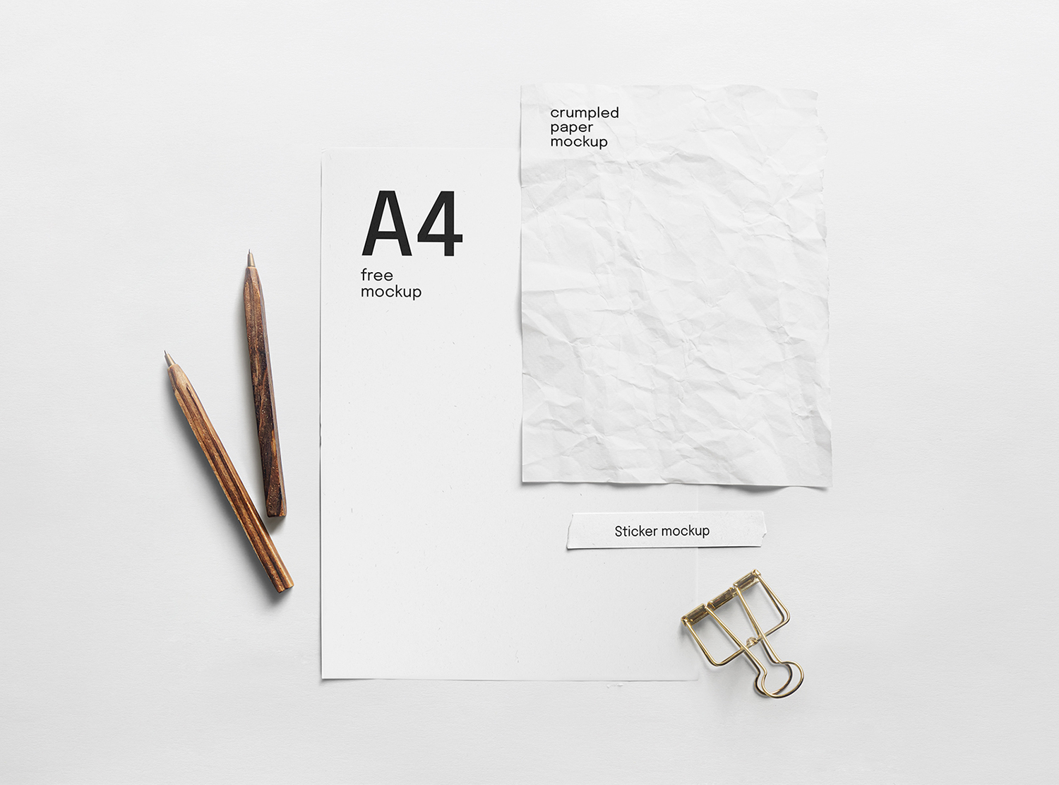 Paper Composition Free Mockup