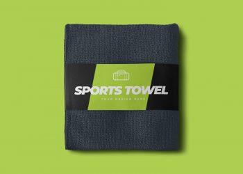 Sports Towel Free Mockup