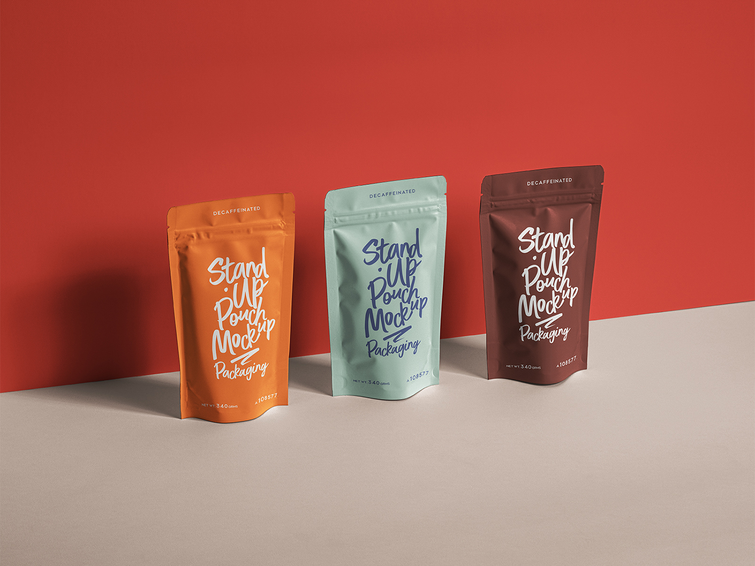 Stand-Up Pouch Packaging Free Mockup