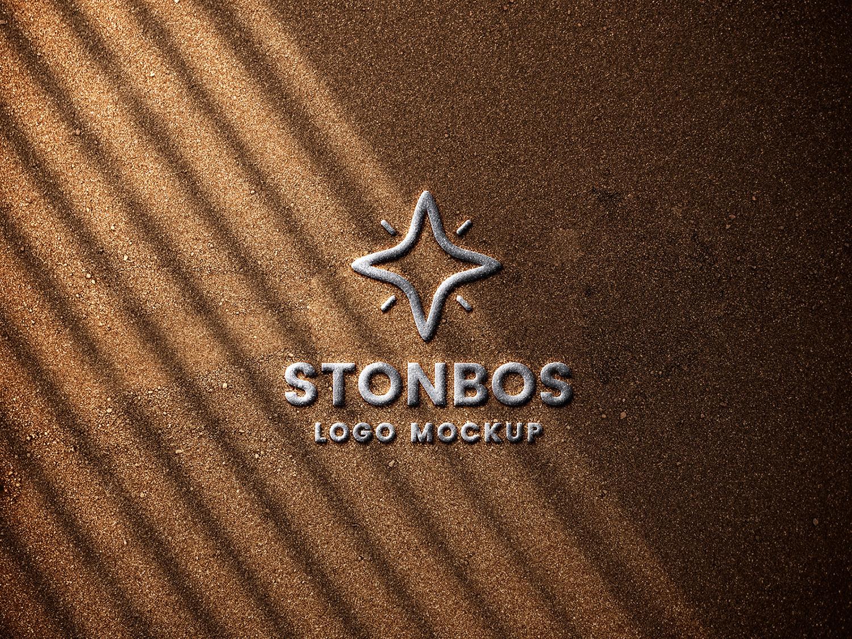Stone Emboss Logo Mockup