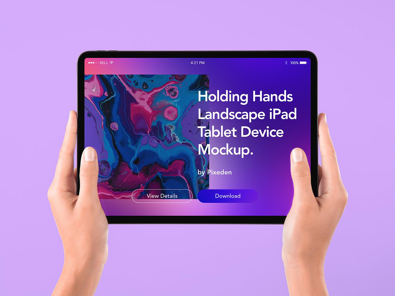 Tablet iPad Free Mockup in Hand