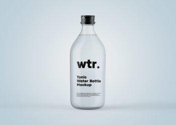 Tonic Bottle Free Mockup