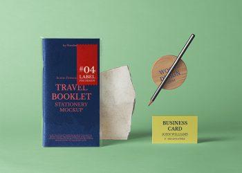 Travel Booklet Free Mockup Scene