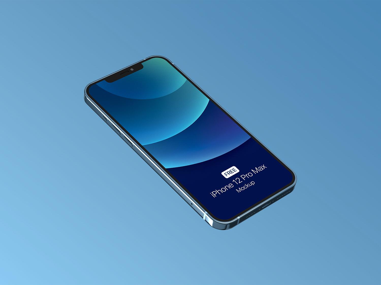 iPhone 12 Pro Free PSD Mockup