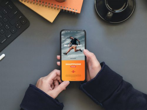 A Person Holding a Smartphone Mockup