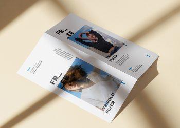 Bi-Fold DL Flyer Free Mockup