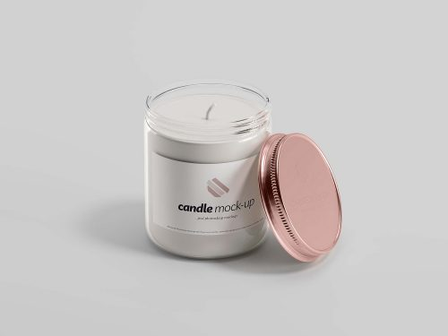 Branded Candle Free Mockup