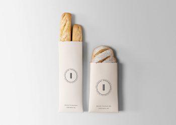 Bread Packaging Paper Bag Free Mockup