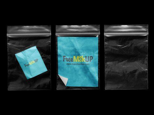 Clear Zip Lock Bag Free Mockups