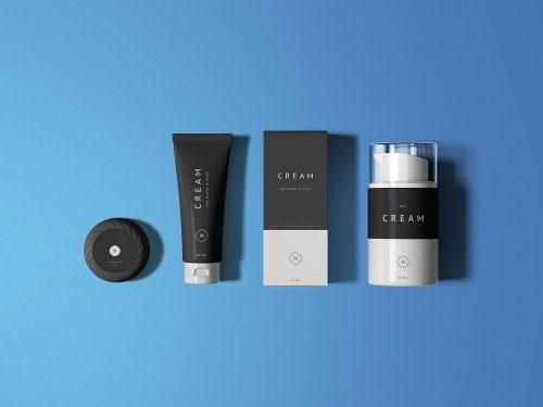 Essential Cosmetics Packaging Mockup