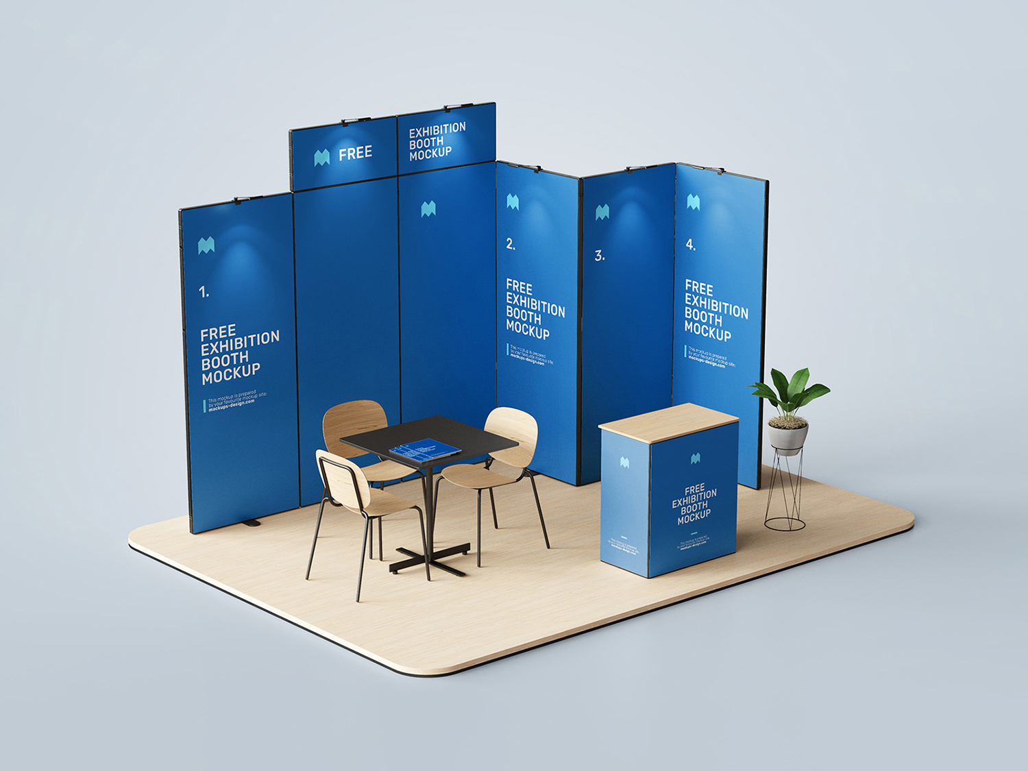 Exhibition Booth Free Mockup