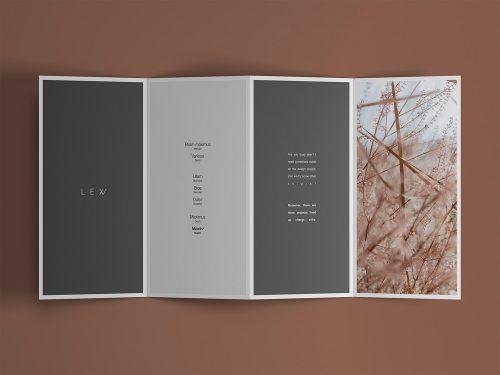 Free 4-Fold Brochure Mockup