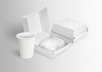 Free Burger Box Mockup