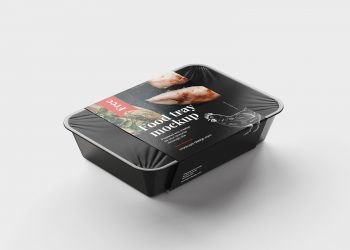 Free Food Tray Packaging Mockup