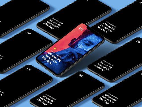 Free Isometric iPhone 11 Pro Mockup