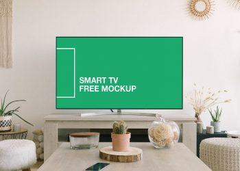 Free Smart TV Screen Mockup