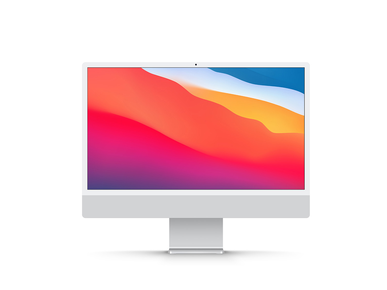Free iMac 24 Inch Display Mockup
