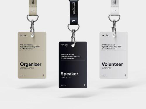 Hanging ID Card Mockup