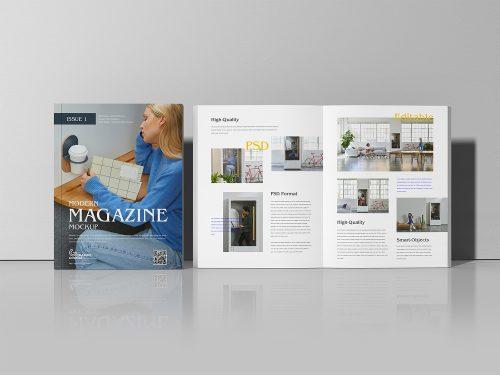 Modern Magazine Mockup PSD