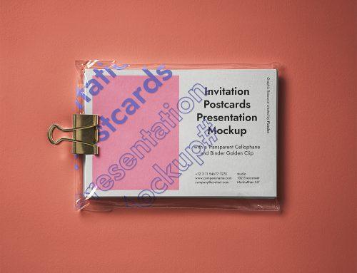 PSD Postcard Free Mockup Presentation