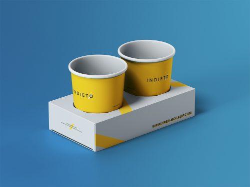 Paper Cup Holder Free Mockup