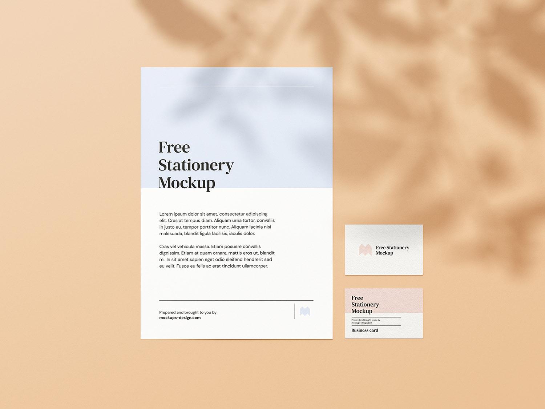 Simple Stationery Free Mockup
