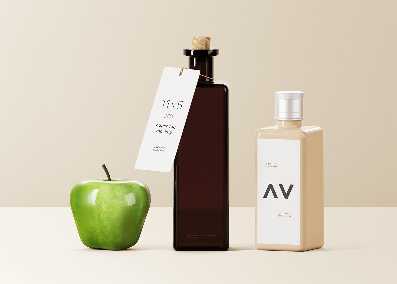 Square Bottles Branding Mockup