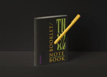 Stationery Notebook Free Mockup Set