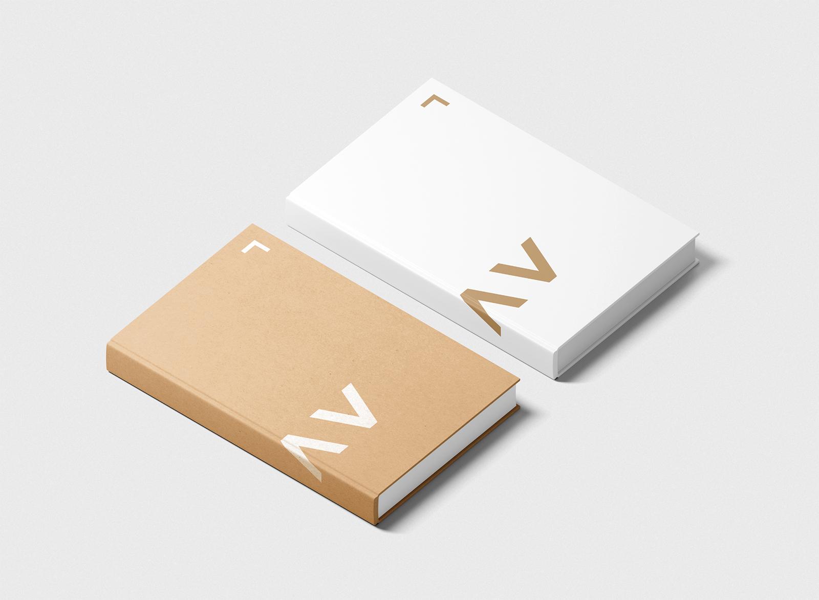 Two Book Covers Free Mockup Isometric Scene