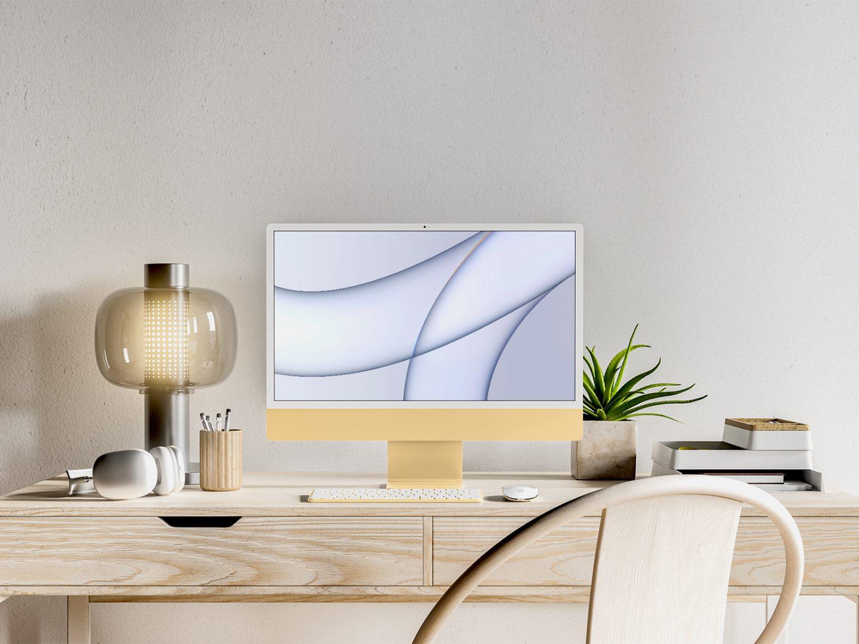 iMac PSD Free Mockup