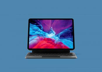iPad Pro with Keyboard Free Mockup