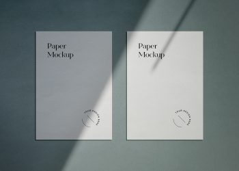 A4 Paper Stationery Free Mockups