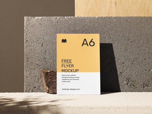 A6 Single Flyer Scene Free Mockup