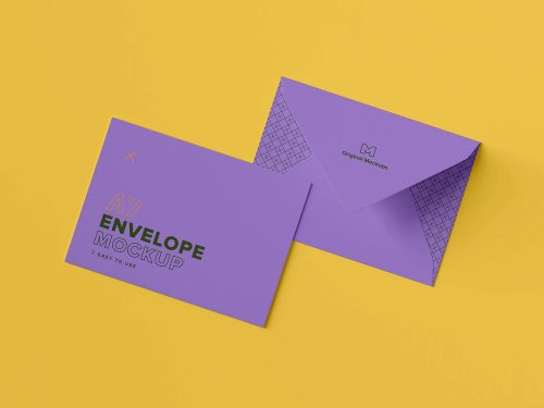 A7 Envelope PSD Free Mockup