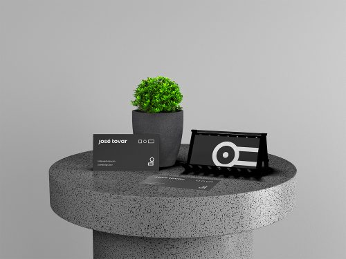 Business Cards with Plant Branding Free Mockup