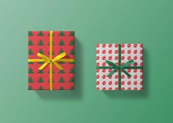 Christmas Box Mockup