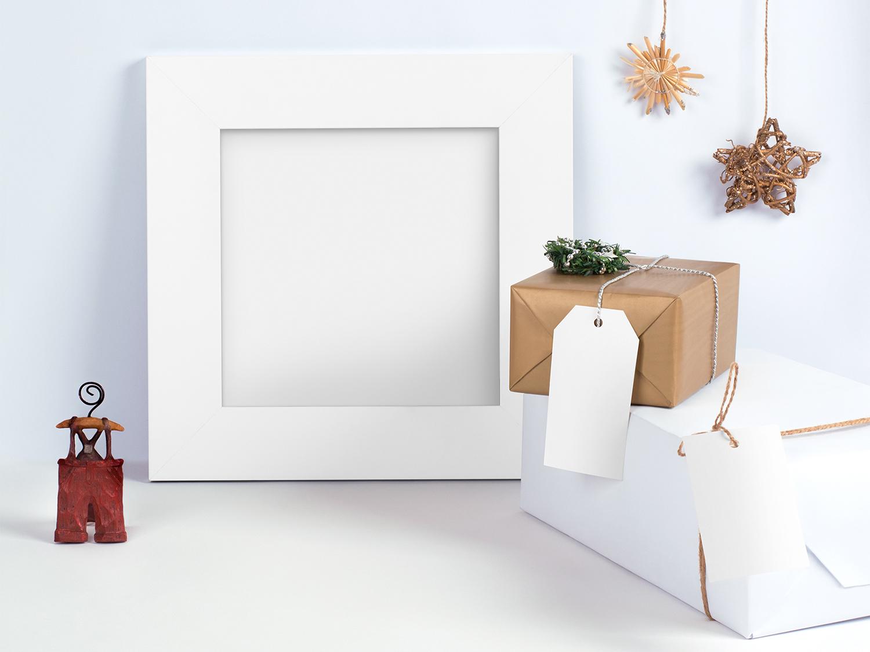 Christmas Frame Free Mockup